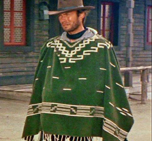 Clint Eastwood Style Spaghetti Western Cowboy Poncho Movie
