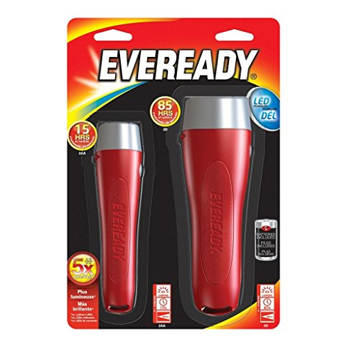 Eveready Compact Led - Eveready LED Flashlight, All Purpose (2 Pack)