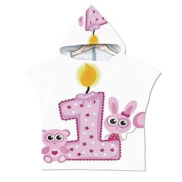 Amazon com: 1st Birthday Decorations Soft Hooded Beach Bath