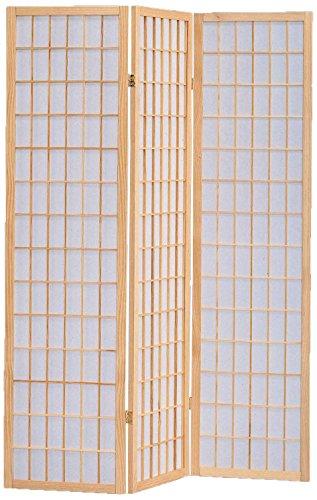 (Milton Greens Stars 7034NA 3-Panel Sam Room Divider, Natural)