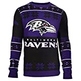 NFL Football 2015 Big Logo Ugly Crew Neck Holiday Sweater - Pick Team (Baltimore Ravens, Medium)