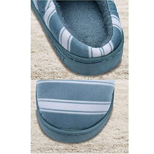 9 Indoor Slip Slides Memory Shoes Unisex Warm House Foam Cozy Home Green Non Slippers SdWzxOq