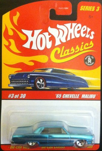 - HOT WHEELS 2006 3 of 30 red '65 CHEVELLE MALIBU RED LINE CLASSICS SERIES 3 1:64 SCALE DIE-CAST BODY/CHASSIS SPECIAL PAINT by Hot Wheels