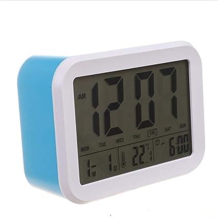 Shuangklei Despertador, Reloj Que Habla con 3 Alarmas 7 Sonidos Opcional Alarma De Día De