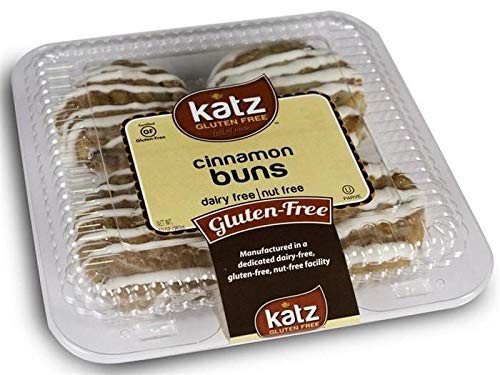 Katz Gluten Free Cinnamon Buns | Dairy, Nut and Gluten Free | Kosher (1 Pack of 4 Buns, 10 Ounce)