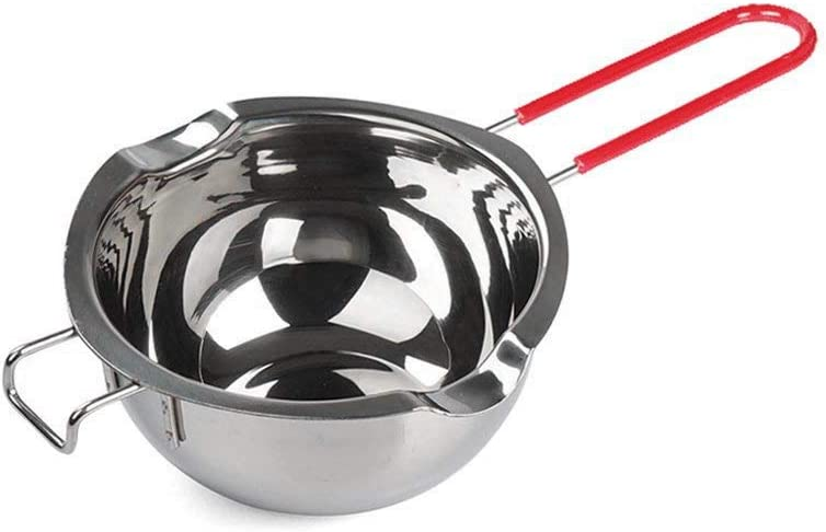 Stainless Steel Double Boiler Pot with Heat Resistant Handle for Melting Chocolate, Candy and Candle Making (18/8 Steel, 2 Cup Capacity, Universal Insert)