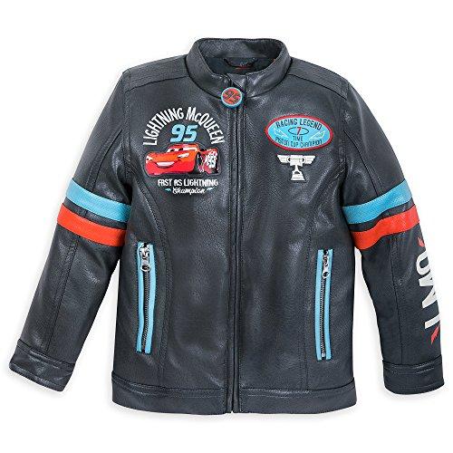Disney Lightning McQueen Faux Leather Jacket for Boys Size 5/6 Multi by Disney