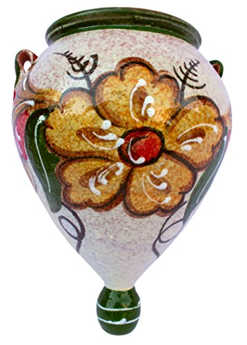 Cactus Canyon Ceramics Wall Flower Pot - Spanish Orza (Spanish Oro) - Hand Painted in ()