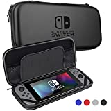 Nintendo Switch Case,Sahiyeah Hard Protective Durable Carrying Bag With 5 Game Holder for Nintendo Switch Black