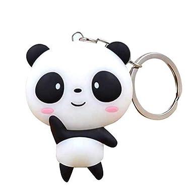 Amazon.com: Lanyan Kawaii Shy - Llavero con diseño de panda ...