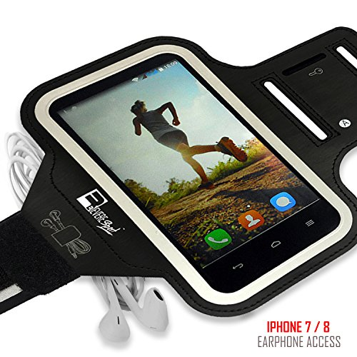 iPhone 7/8 PLUS Running Armband with Fingerprint ID Access. Sports Phone Arm Case Holder for Small 9'' - Large 20'' Arms. Designed for Runners, Gym Workouts & Extreme Exercise by Revere Sport (Image #4)