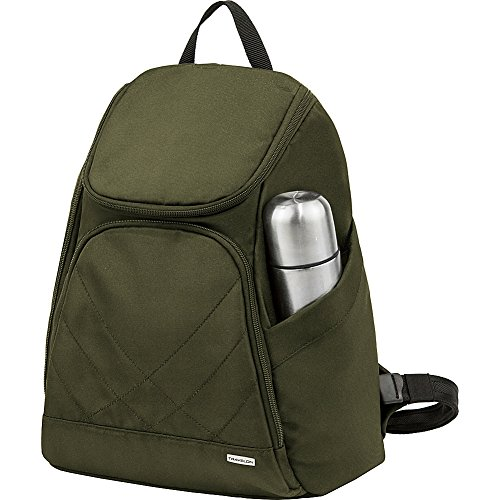 Travelon Anti Theft Classic Backpack, Olive - Exclusive Color - Exclusive Olive