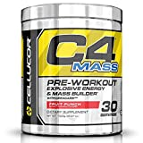 Cellucor, C4 Mass, Explosive Energy & Mass Builder, Pre-Workout Supplement, Fruit Punch, 30 Servings