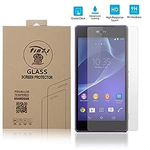 tinxi® Protector de vidrio templado de vidrio templado para Sony Xperia Z2 Premium Protector de pantalla Protector de pantalla ultra duro
