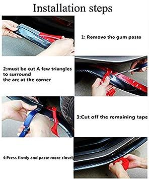 SunAngel Universal Car Door Edge Guards Set ABS Anti-Scratch Protector Trim Sticker for Car SUV Pickup Truck Trim Door Edge Guard Strip for Car Protection Anti-Collision Decoration