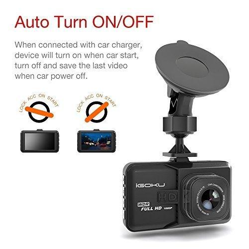WDR Cam/éra de Voiture Dashcam Voiture enregistreur de Conduite Full HD Mini Dash-Cam pour Voiture 170 degr/és Angle Voiture DashCam avec G capteur d/étection de Mouvement
