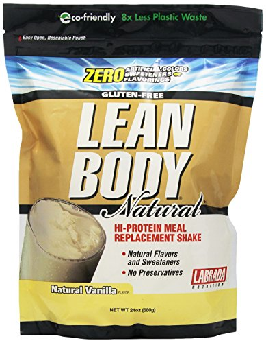 Labrada Nutrition Lean Body Salut Protein Meal Replacement Shake, vanille naturelle, 24 once