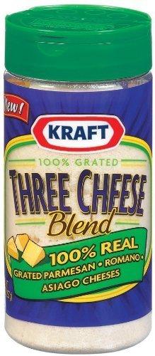 Kraft Three Cheese Blend 8 Oz (Pack of 3)