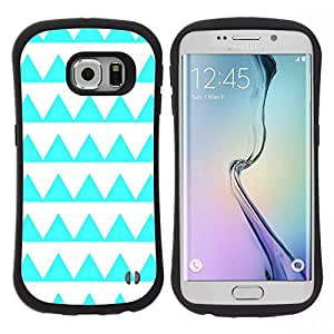 "Pulsar iFace Series Tpu silicona Carcasa Funda Case para Samsung Galaxy S6 EDGE , Patrón Aguamarina Forma Blanca"""
