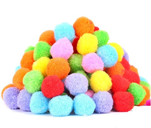 PET SHOW 1.8″ Soft Cat Toy Balls Kitten Toys Pompon Ball Assorted Color