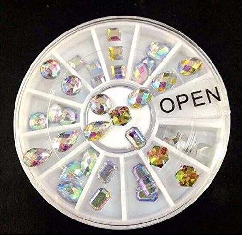 1 Pack 36Pcs/Set Multicolor Crystal Glitter Nail Art Rhinest