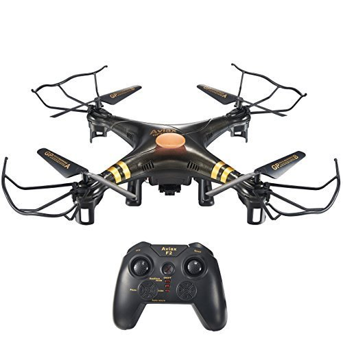 Price comparison product image HOSIM F2C Black Aviax Remote Control Quadcopter Drone Helicopter with Transmitter & Gyro System & HD Camera & LED Lights & 4G SD Card & SD Card Reader