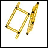 Collapsible Sixty Percent Off Multifunction Plastic Folding Ruler Measuring Instrument Flooring Template Tool(Yellow)