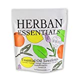towelettes Herban Essentials *New* Mixed Bag (all 5 scents): Lemon, Lavender, Peppermint, Orange and Eucalyptus (20 towelettes)