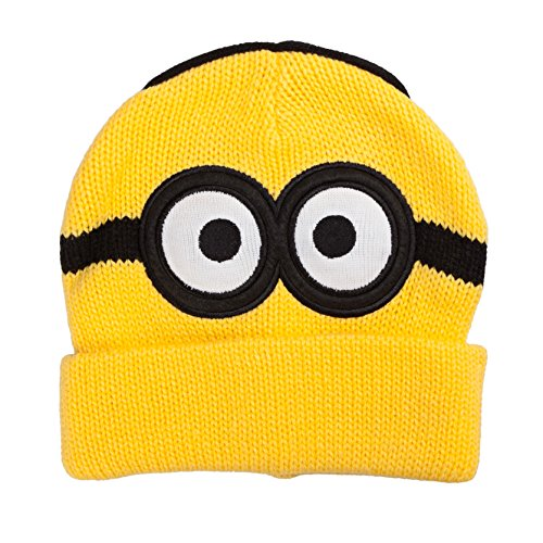 Despicable Me Minions Dave Two Eyes Yellow Beanie