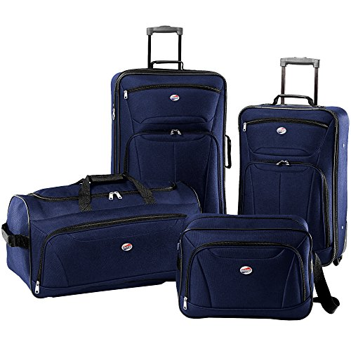 Delsey Lightweight Duffel (American Tourister Luggage Fieldbrook II 4 Piece Set (One Size, Navy))