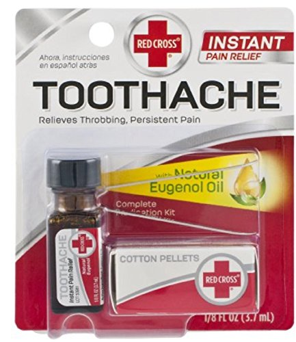 - Red Cross Toothache Medication Kit 0.12 oz (Pack of 9)