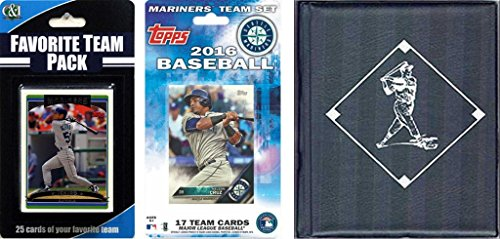 MLB Seattle Mariners Licensed 2016 Toppså Team Set and Favorite Player Trading Cards Plus Storage Album ()