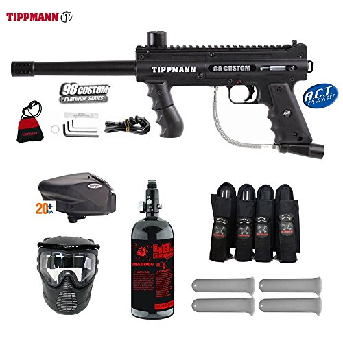 MAddog Tippmann 98 Custom ACT Expert Paintball Gun Package - Black
