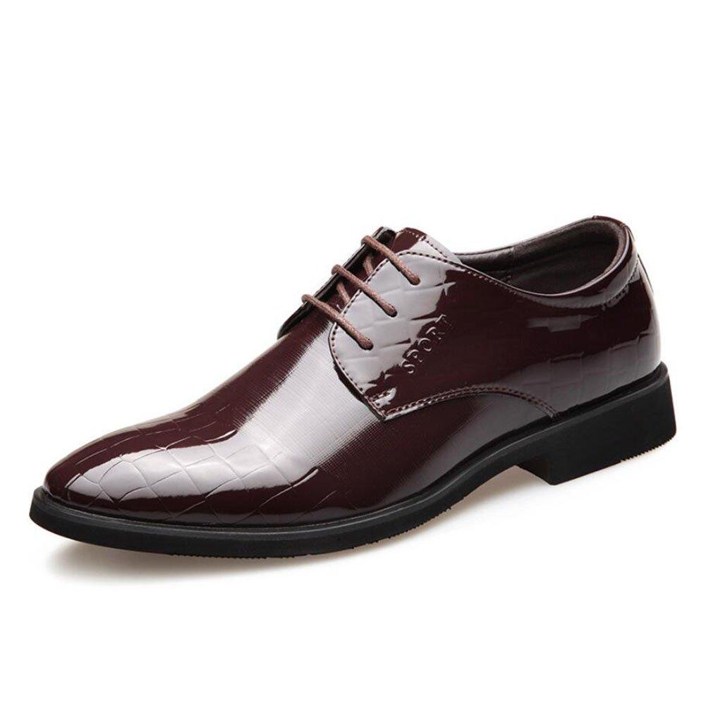 CAI Männer Spitzen Business Formale Schuhe Vier Jahreszeiten Mens Bequeme Kleid Schuhe Büro & Party & Hochzeit Lederschuhe (Farbe   Braun, Größe   44)