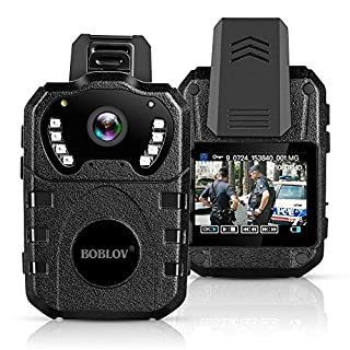 BOBLOV Body Worn Camera Built in 32GB 1080P,Portable Multi-Functional 170° IR Night Body Mounted Camer Vision DVR Video for Police Officers, Security Guards and More