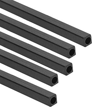 Dia* 200//400mm Carbon Fiber Round Bar Rod Length 5pcs//kit Accessory High Quality