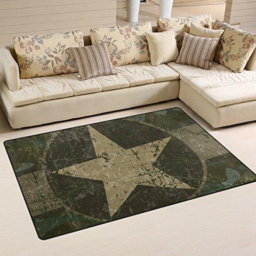 kground Area Rug Carpet Non-Slip Floor Mat Doormats for Living Room Bedroom 60 x 39 inches (Military Floor Mat)