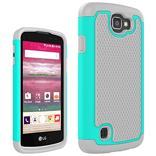 LG K4 Case, LG Spree Case, LG Optimus Zone 3 Case,LG Rebel LTE Case, Anna Shop Shock Absorption Slim Hybrid Dual Layer Armor Defender Protective Case Cover for LG Optimus Zone 3 / LG K4 / LG Spree (Lg Optimus Otterbox compare prices)