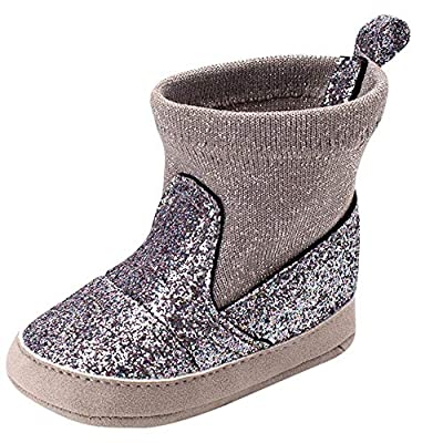 Tronet Winter Baby Soft Sole Boot Boots, Toddler Girls Keep Warm Sequins Bling Casual Shoes