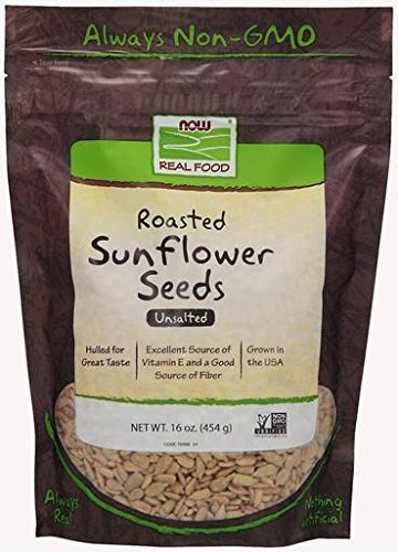 Sunflower Seeds Roasted & Unsalted Now Foods 16 oz Seed