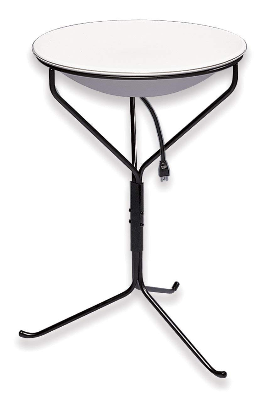 Allied Precision Industries (970 20-Inch Diameter Heated Bird Bath with Metal Stand