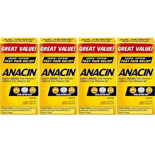 - Anacin Tablets 300 Tablets (Pack of 4)