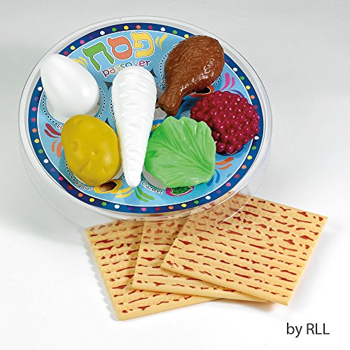 """Merry and Light 1"""" Passover Deluxe Plastic Play Seder Set"""