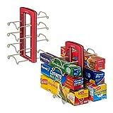 Corner Kitchen Cabinet Ideas YouCopia StoreMore WrapStand Organizer, Set of 2, Red