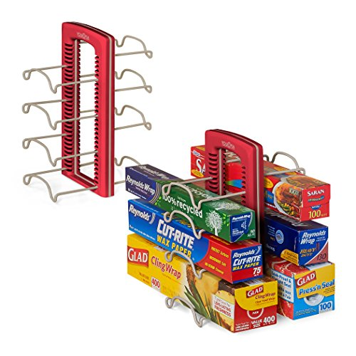 Youcopia Storemore Wrapstand Organizer  Set Of 2  Red