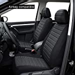 AUTOYOUTH 5MM Foam Front Seat Covers Airbag Compatible Car Seat Cover Universal Car Seat Protectors Interior Accessories