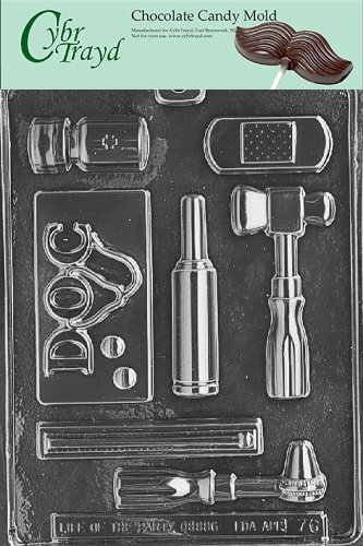 Cybrtrayd Life of the Party J076 Doctor's Doc Kit Pills, Thermometer, Bandage Chocolate Candy Mold in Sealed Protective Poly Bag Imprinted with Copyrighted Cybrtrayd Molding Instructions ()