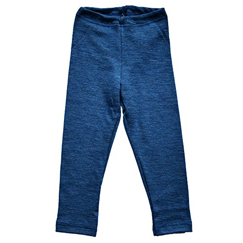 Girls-Boys-Leggings-Pants-Base-Layer-100-Organic-Merino-Wool-Machine-Washable