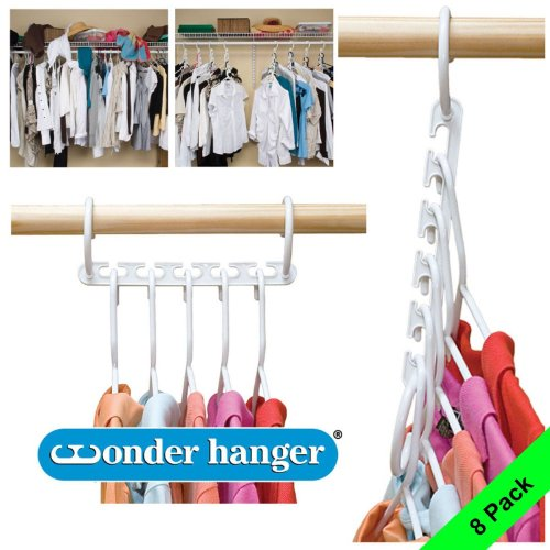 8-Pack Wonder Hanger Closet Organizer Closet Space Saver Clothes Organizer