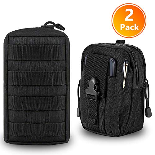 - Molle Life 2 Pack Tactical Molle Pouch Attachments Set - EDC/Mag Admin Pouch and Utility Molle Pouch